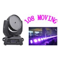 Quality 108pcs*3w rgbw colorful 4in1 led moving head lights with zoom 350w moving head lights disc for sale