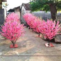 Buy cheap UVG small artificial peach blossom wooden tree wedding reception decorations selling products CHR166 from wholesalers