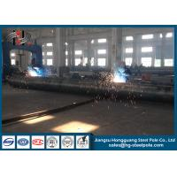 China 10-220KV Suspension / Strain Electric Utility Poles / Power Transmission Poles on sale