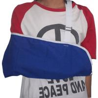 Quality Polyester Cotton Blend Shoulder Arm Brace Envelope Style Adjustable Wide Strap for sale