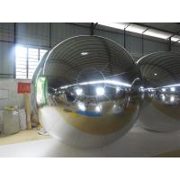 Quality 3M PVC Silvery MIirror Inflatable Advertising Ball For Exhibition for sale