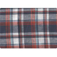 China Professional Decorative Plaid Linen Upholstery Fabric 57 / 58 Width on sale