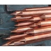 China 18mm Good conductivity Copper Coated Ground Rod , house earth rods on sale
