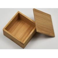 Quality Small Natural Storage Bamboo Gift Box With Custom Logo For Packaging for sale
