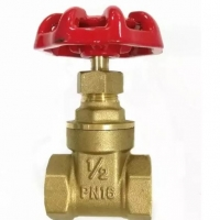 """Quality G1/4"""" NPT Thread Forged Brass Gate Valve Alumium Handle For Irrrigation for sale"""