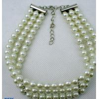 Best Nickel free Tin alloy Fashion solid gold chains Jewelry Beaded Pearl Necklaces for gift wholesale