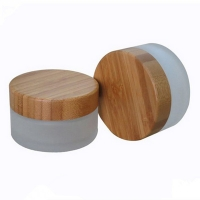 Quality Bamboo Glass Frosted Mist Spray Bottles & Jars for Facial Serum Lotion 5g~250g for sale