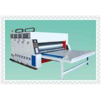 Quality three color semi-auto water ink automatic paper feeding printing slotting machine for sale