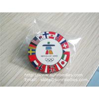 China Custom made enamel pin badges, China metal gift factory for cheap metal badge pins on sale