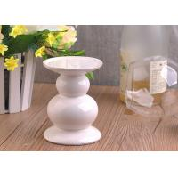 Best Long Stem Ceramic Candle Holder , White Ceramic Pillar Candle Holder wholesale