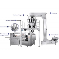 China Rotary Vacuum Packaging Machine For Packaging Rice for sale