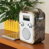 Quality 2015 Wooden Leather decoration bluetooth speaker boombox with usb sd for sale