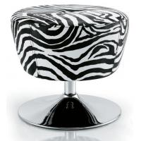 Quality Zebra Stripe Salon Rolling Chair With Gas Spring , Chrome Steel Materials for sale