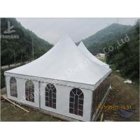 Quality Aluminum Frame 8x8 Gazebo Canopy Tents , Outdoor High Peak Tents For Restaurant for sale