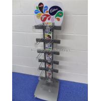 Quality Freestanding Metal Chocolate Sweet Display Stand 12 Hooks For Snacks Store for sale