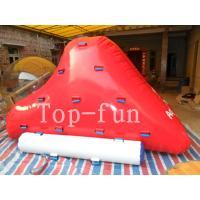 Amusement Aqua Park Inflatable Rock Slide / Iceberg For Commercial Rental Business