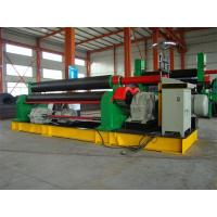 Quality 3 Roll Plate Rolling Machine For 12mm Thickness 300mm Width Plate , 11KW Motor Power for sale