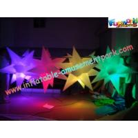 Quality Multicolor Club Inflatable Lighting Decoration Star 1.5 Meter With Blower for sale