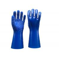 Quality Single Dipped PVC Dotted Gloves Gauntlet Interlock Liner Stable Working for sale