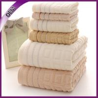Quality 100% cotton towel with jacquard border for sale