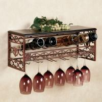 China Metal Wine and Stemware Wall Rack on sale