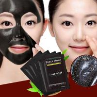 China Blackhead Remover Nose Mask Chin Forehead Black Head Mask Acne Treatment Pore Strip Black Mask Peeling Skin Care on sale