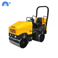 Quality CE Certification Double Wheel Tandem Vibratory Compactor Mini Road Roller Compactor For Sale for sale