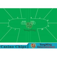 China Texas Holdem Standard Casino Table Layout Green With 100% Polyester Fabric on sale