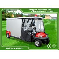 Quality Environmental Electric Ambulance Car Red Golf Cart Ambulance For Hospital for sale