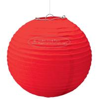 Quality Solid Color Round Paper Lanterns For Party , Hanging Paper Lanterns Dia 10cm ~ 20cm for sale