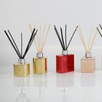 Quality Electroplating Bottle Home Scent Diffuser / Luxury Reed Diffuser With Customized Box for sale