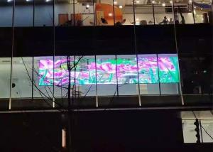 Quality SMD2020 P3.91 Glass Transparent Led Display 500x1000mm Cabinet for sale