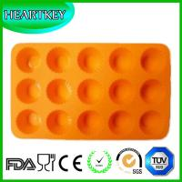 Quality 15 Cavity Flowers Silicone Non Stick Cake Bread Mold Chocolate Jelly Candy Baking Mould for sale