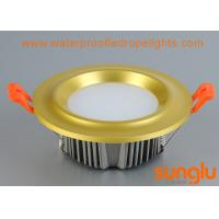 Quality Golden Aluminium COB LED Downlight 20 Watts Convex Shape For Cabinet Lighting for sale
