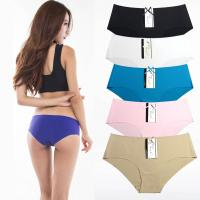 China Yun Meng Ni Sexy Underwear Ice Silk Seamless Ladies Brief Hot Sale Cheeky Panties on sale