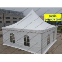 Quality Mini Waterproof High Peak Tents / Peak Pole Tent With Transparent Sidewalls for sale