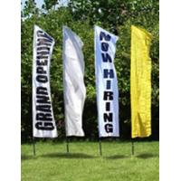 China Outdoor Custom Beach Flags Banner Printing , Flag Advertising Banners Aluminum Pole on sale