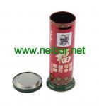 Chinese style mailbox shaped money box tin coin bank donation box
