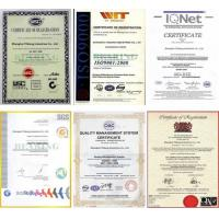 Shanghai Yiqiang Industrial Co.,Ltd Certifications