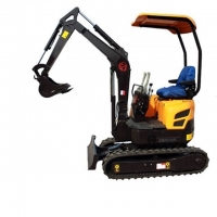 Quality China 1.6ton Hydraulic Crawler Excavator Small Digger Excavator Attachment Towable Mini Digger for sale