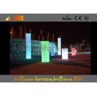 Best Square PE Led Wedding Pillar Wireless Remote Control For Christmas Decorations wholesale