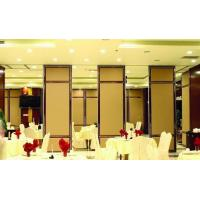 China Melamine Finished Almirah Wooden Partition Wall Aluminium Frame For Bnaquet Hall on sale