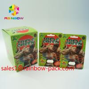 Best hot sale 3D printing card Black mamba 3D cards3d sex pills packaging paper card 3D sex pill card enhancement pill boxes wholesale