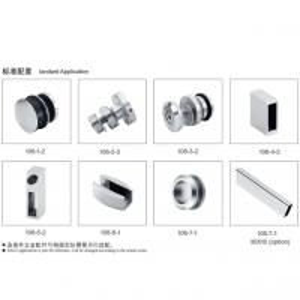 China Glass Sliding Door Kit 106, stainless steel 304, finishing satin, for bathroom door on sale