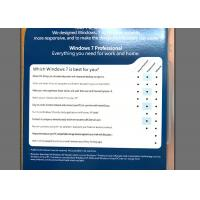 Quality Reliable Windows 7 Professional 64 Bit License , Windows 7 Retail Edition English Version for sale
