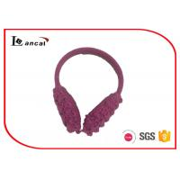Best Knitted Winter Ear Warmers With Polar Fleece Inner Ear , Ear Muffs For Women wholesale