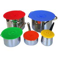 Food Fresh Silicone Cooking Lids For Bowls , Eco - Friendly Silicone Cup Lids