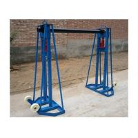 Quality 10 Ton Hydraulic Cable Drum Stand , Cable Jacks Stands For Cable Stringing for sale