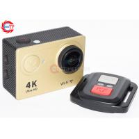 Quality 25fps 4K Sunplus Wifi Action Camera Remote Control 12mp With Waterproof Case for sale