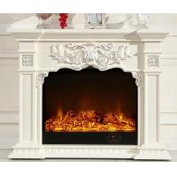 China Luxurious 750w 1500w Solid Wood Fireplaces Oak Electric Led Fireplace on sale